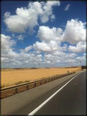 In de woestijn, onderweg naar Adelaide Zuid-Australie, een reis van meer dan 20 uur.